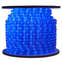 Blue Bulk LED Rope/Tube Light Reel - 150'