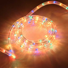 "18' Rope/Tube Light - 3/8"" Diameter - Multi-Color"