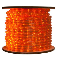 Amber Bulk LED Rope/Tube Light Reel