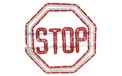 "16.5"" x 16.5"" Red & White Stop Sign Ropelight Motif - HSM-STOP"