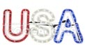 "USA Patriotic Rope Light Motif - 25"" x 10"" - HSM-USA"