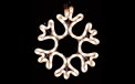 "10"" x 10"" Snow Flake Rope Light Motif - HSS-SNOW"