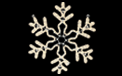 "LED 24"" x 24"" Snowflake Rope Light Motif - HSM-LEDSNOWFA24"