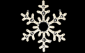 "Snowflake Rope Light Motif - LED 24"" x 24"" - HSM-LEDSNOWFB24"