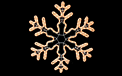 "Snowflake Rope Light Motif - 24"" - HSM-SNOWFA24"