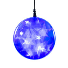 "Battery-Operated 6"" Blue Starfire Sphere"