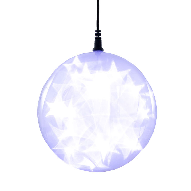 cool white starfire sphere light battery operated