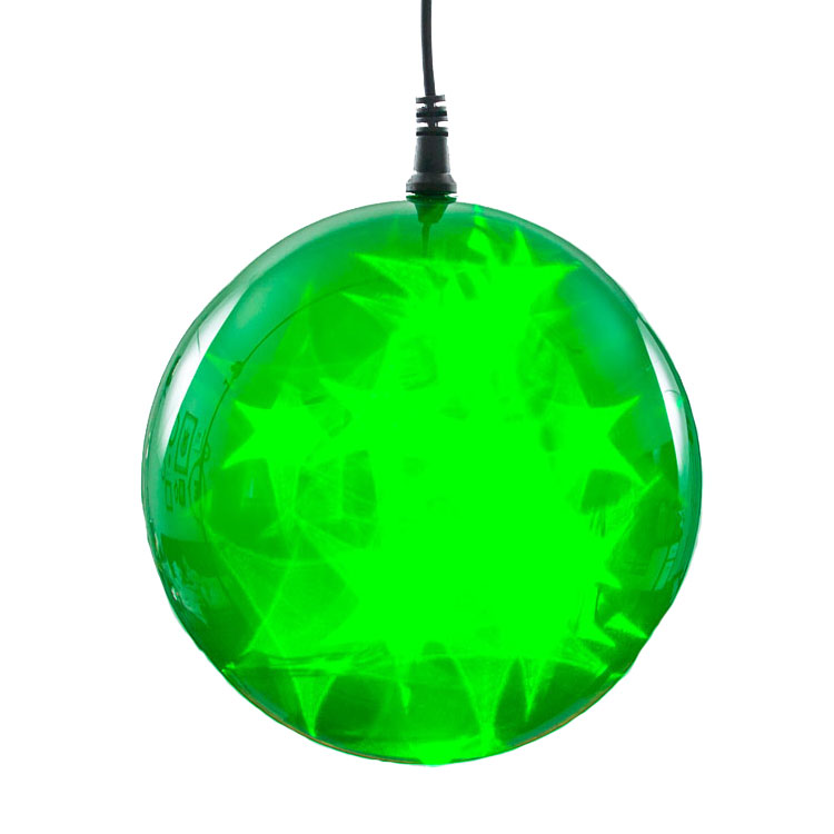 6 green starfire sphere light battery operated