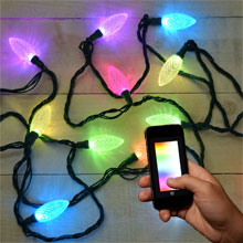 LumenPlay App-Enabled LED Starter Light String - 12 C9 Faceted Lights