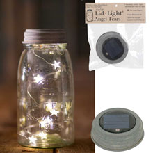 Mason Jar Solar Lid w/ Star Angel Tear Drop String Lights - Barn Roof