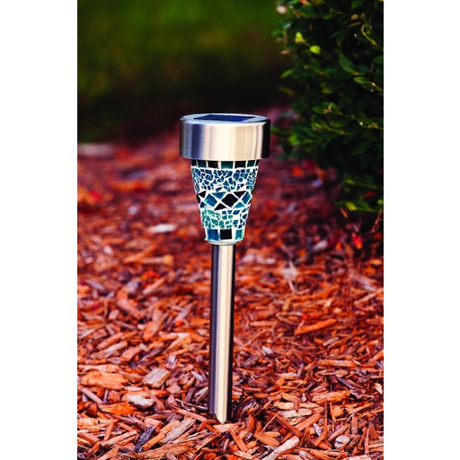 Mosaic Solar Stake Light - Blue/Purple - 12-Pieces