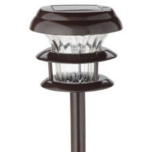 Tiered Solar Stake Light Set - 2-Pack - Brown