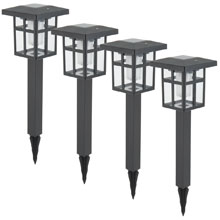 Solar Lantern Stake Light - 4 Pack