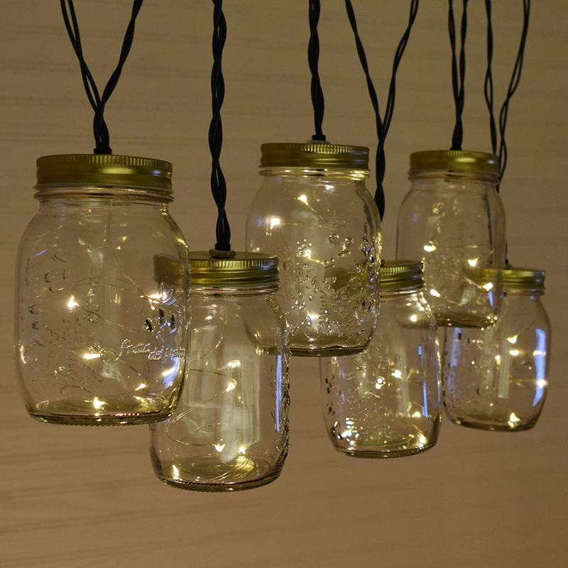 Vintage Mason Jar Party String Lights