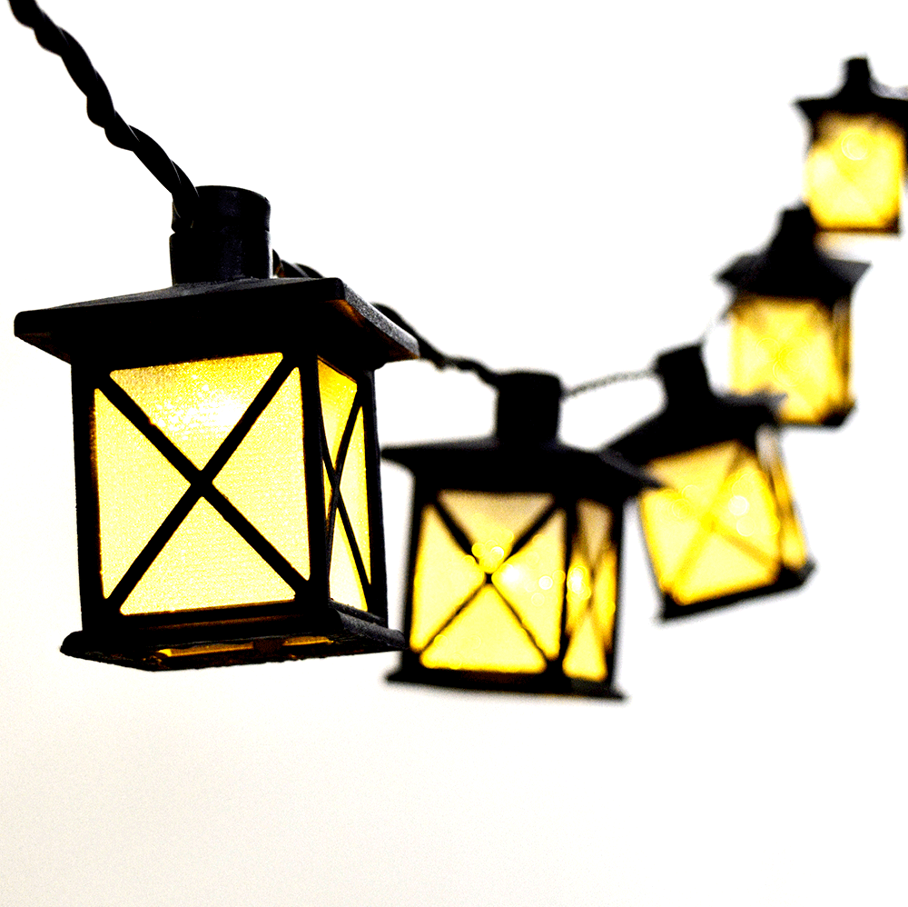 String Lights In Lantern : LED Party String Light Lanterns - 10 Lights