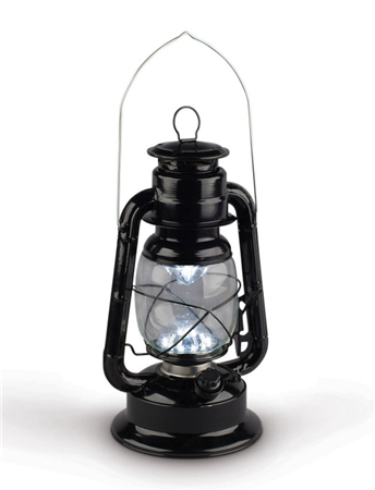 Black LED Railroad Lantern - 11.5