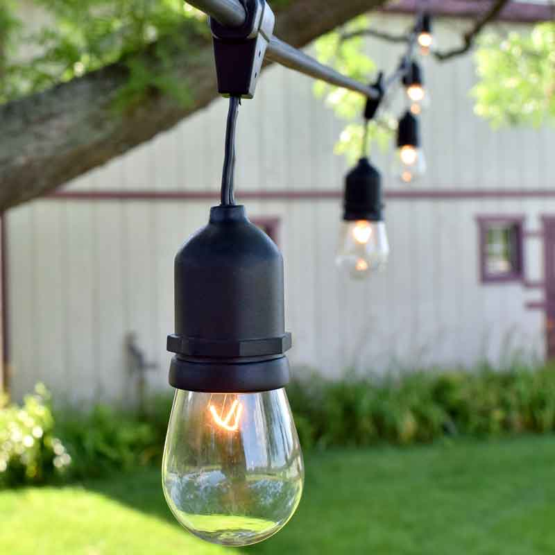 100 Ft Commercial Outdoor String Lights Drop Socket