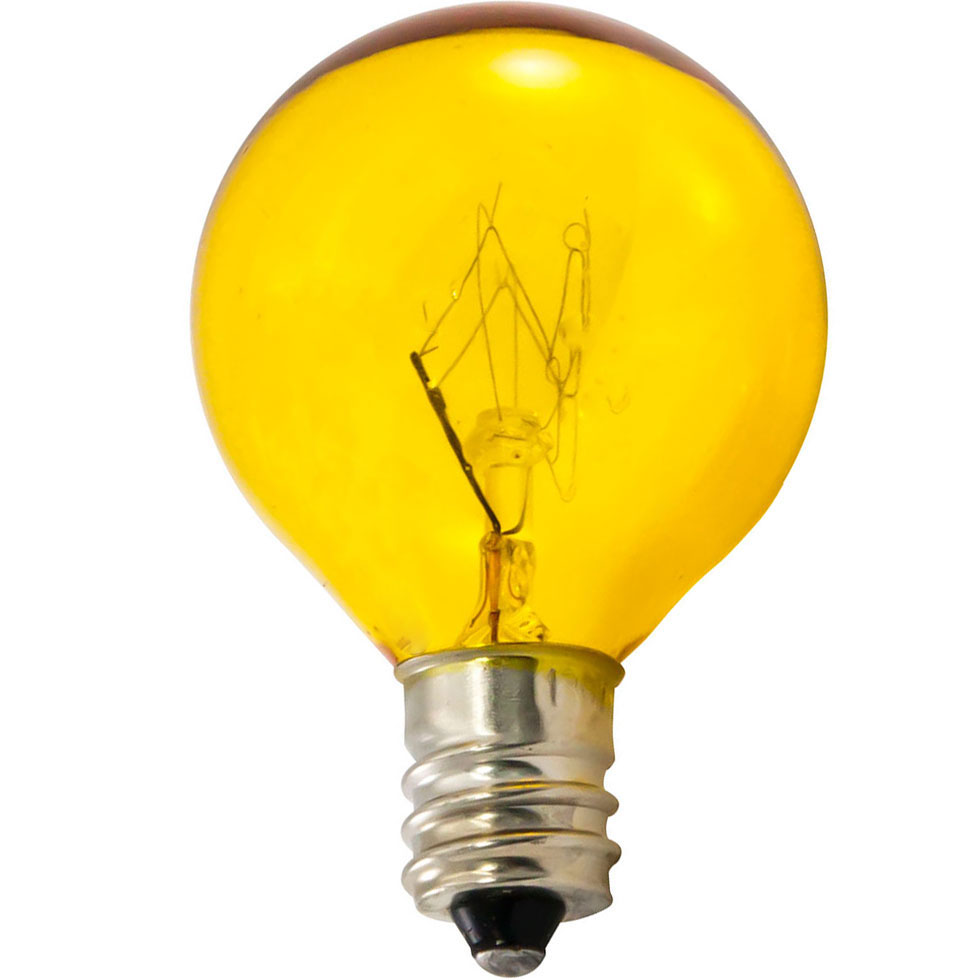 7.5 Watt Yellow Candelabra Base Linear String Light Bulb