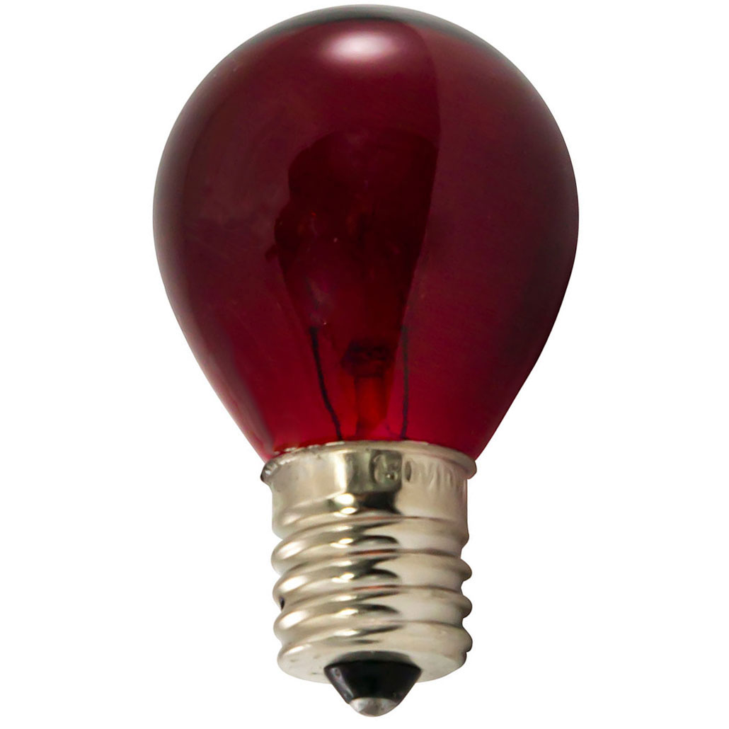 Red Light Bulbs - 10 Watt S11 Intermediate Base
