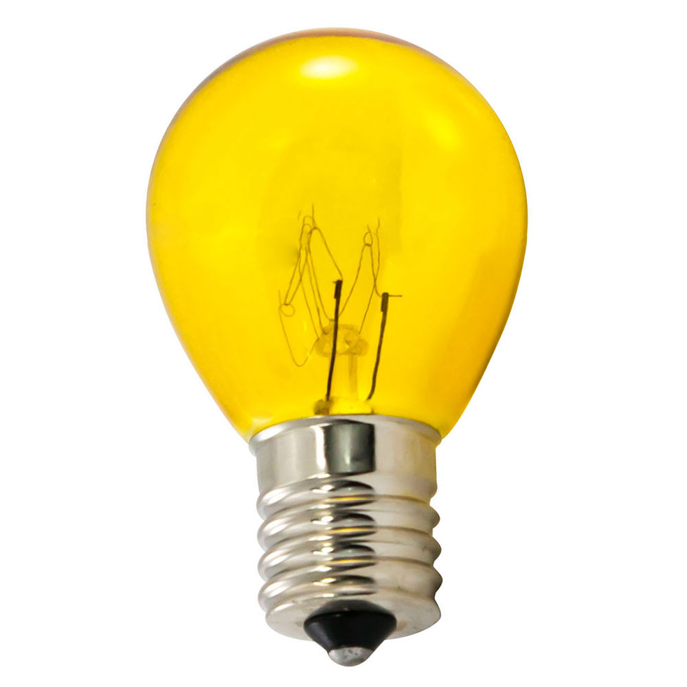Yellow Light Bulbs - S11 Intermediate Base