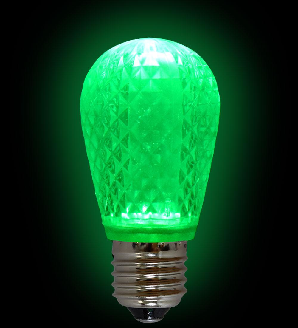 Led S14 Light Bulb Medium Base Faceted Bulb Cool White Festival Indoor Outdoor Lighting