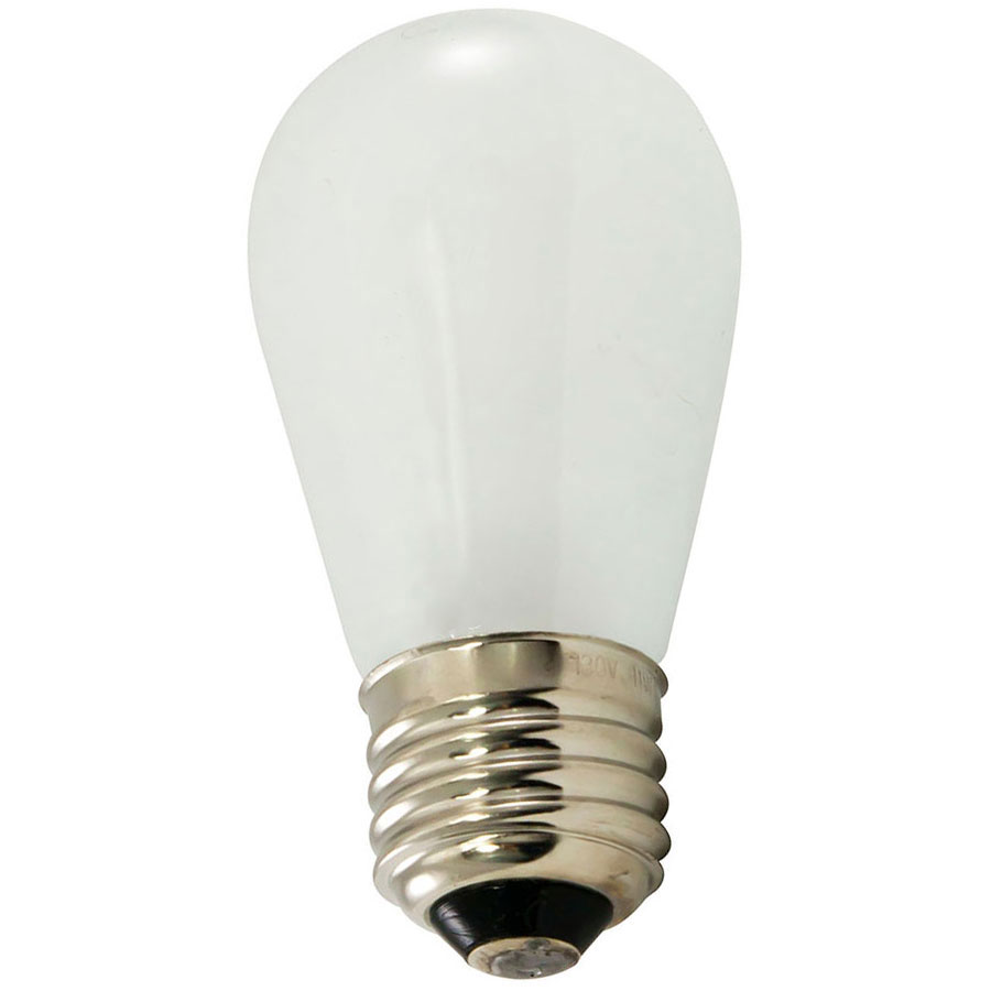 Frosted White S14 Light Bulb - 11 Watt