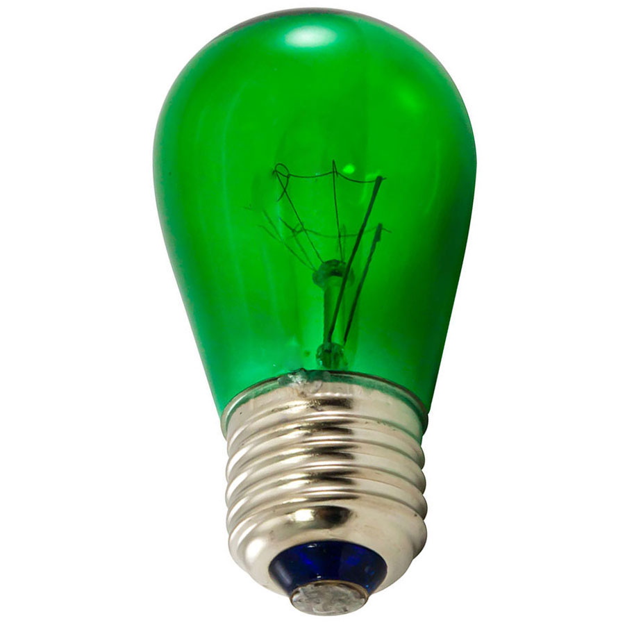 Green Light Bulbs - 25 Pack