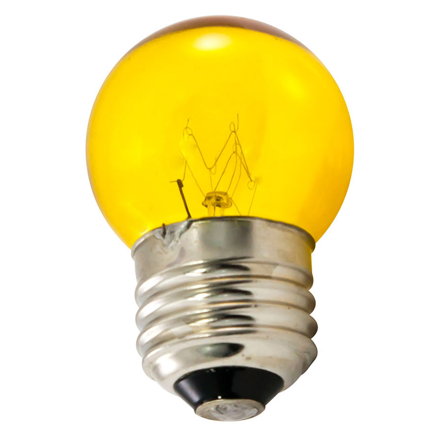 7.5 Watt S11 Medium Base Yellow Light Bulb