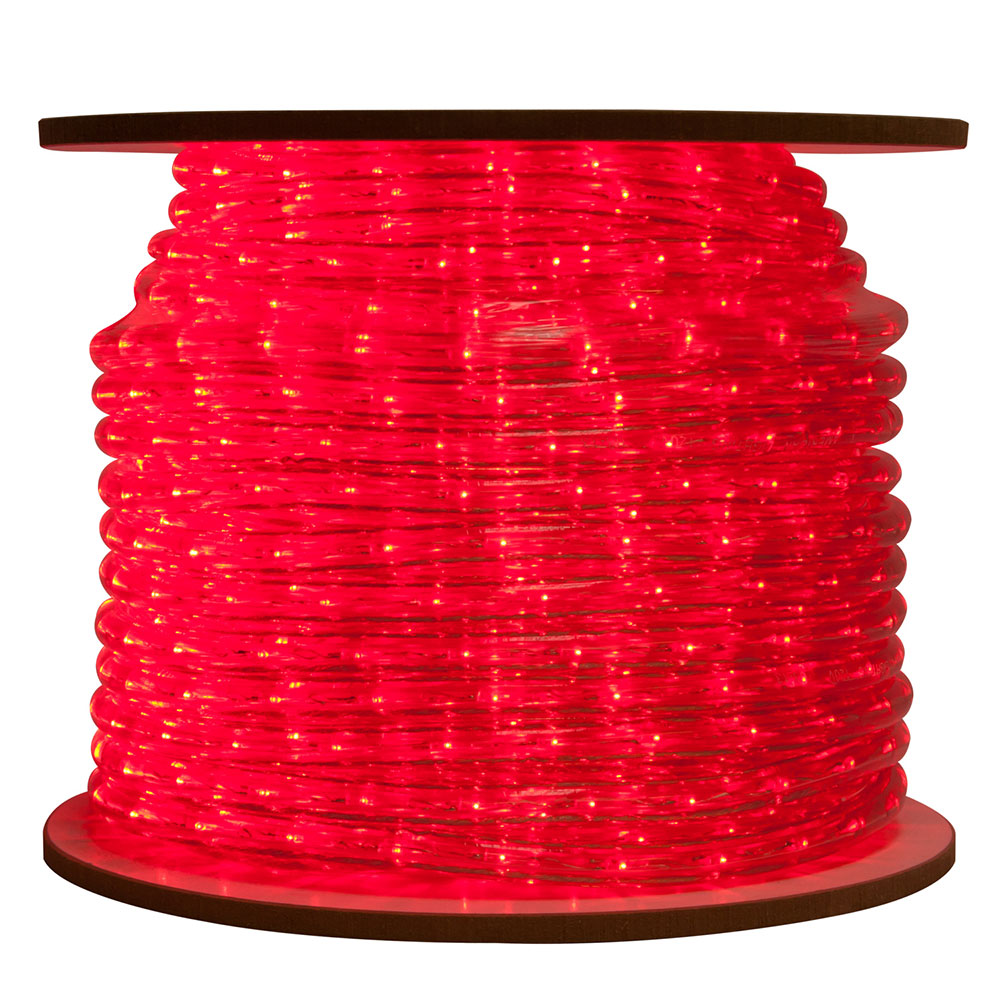 Red Bulk LED Rope/Tube Light Reel - 150'