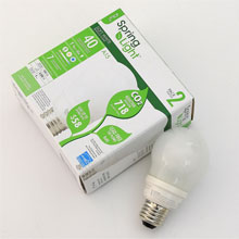 TCPCompact Fluorescent SpringLight A-Lamp 9Watt Soft White - 2 Pack 8070092