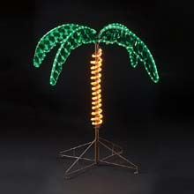 "30"" Pre-Lit Rope Light Palm Tree"