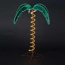 4.5' Pre-Lit Rope Light Palm Tree