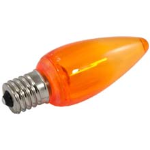 Orange LED C9 Linear Light Strand Bulbs