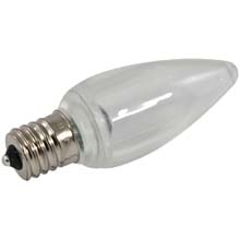 Pure White LED C9 Linear Light Strand Bulbs