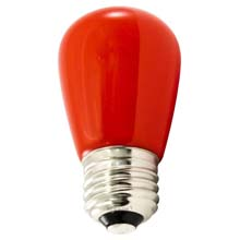 Frosted Red LED Professional S14 Light Bulbs