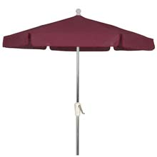 Burgundy Outdoor Garden Umbrella - Bright Aluminum