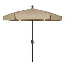 Beige Canopy Outdoor Garden Umbrella - Bronze Finish