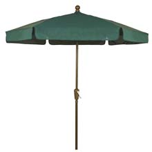 Forest Green Hexagon Garden Umbrella - Bronze Finish