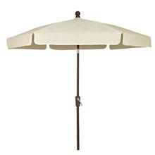 Natural Canopy Hexagon Garden Umbrella