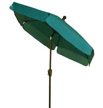 Forest Green Canopy Tilt Garden Umbrella - Bronze Finish