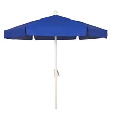 Pacific Blue Hexagon Garden Umbrella - White Finish