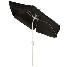 Black Tilt Garden Umbrella - White Finish