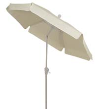 Natural Tilt Garden Umbrella - White Finish