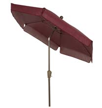 Burgundy Canopy Garden Tilt Umbrella - Bronze Finish
