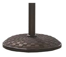 "19"" dia. Concrete Umbrella Base - Basket Weave FB-CBBW19-T"