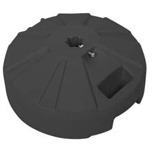 "16"" dia. Plastic Umbrella Base - Black FB-PB14K"