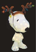 Snoopy with Antlers Christmas Holiday Decoration