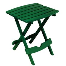Quik Fold Hunter Green Patio Side Table