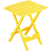 Yellow Quik Fold Patio Side Table