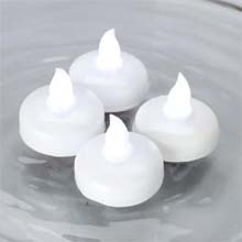 White LED Water-Activated Floating Tea Light Set